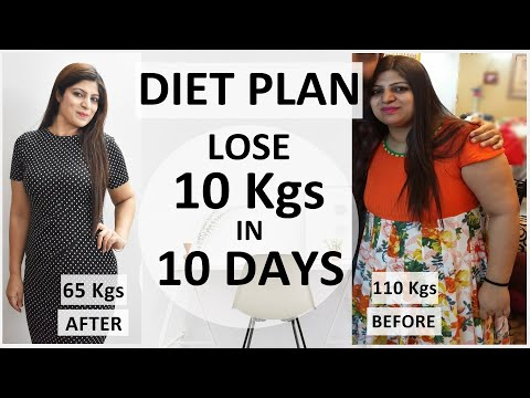 diet plan to lose weight fast in hindi  lose 10 kgs in 10